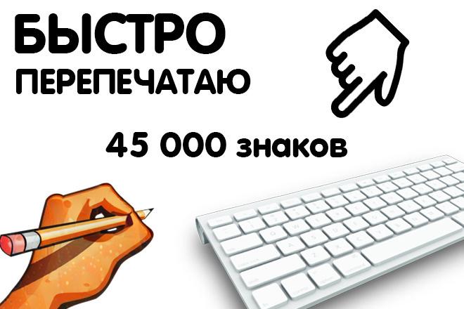 Перепечатаю ваш текст 1 - kwork.ru
