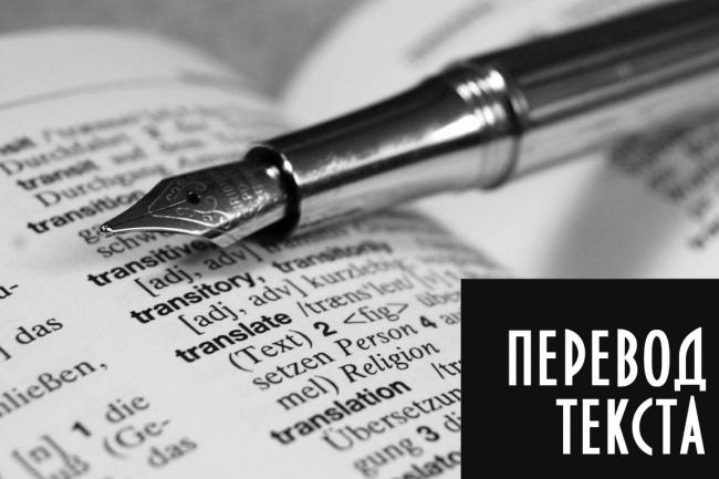 Быстрый качественный перевод Английский, Французский, Русский 1 - kwork.ru