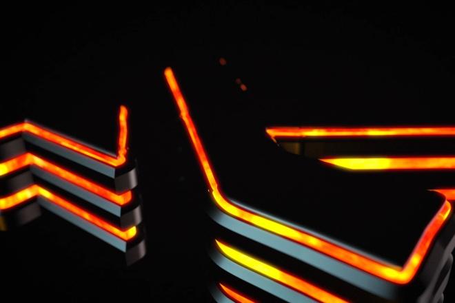 Светящийся 3D логотип 1 - kwork.ru
