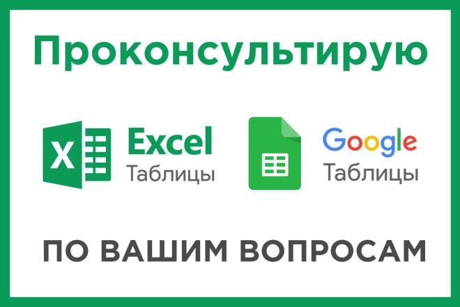 Консультация по вопросам в Excel и Google Таблицам 1 - kwork.ru
