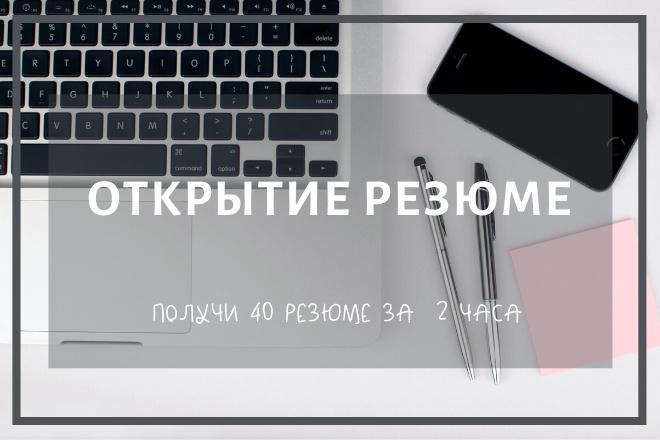 Открытие резюме 1 - kwork.ru