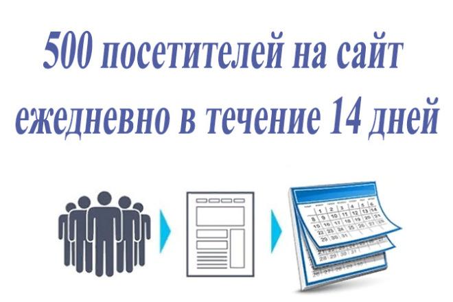 500 посетителей на сайт в течение 14 дней 1 - kwork.ru