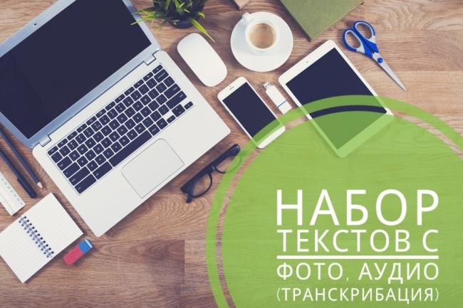 Набор текстов с фото, аудио, транскрибация 1 - kwork.ru