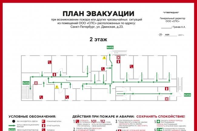 Разработаю план эвакуации в соответствии с гост 12.2. 143.2009 2 - kwork.ru