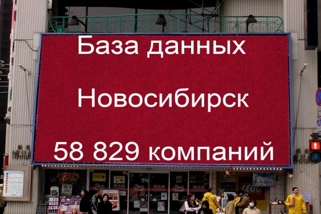 База данных компаний Новосибирска 58829 контактов 1 - kwork.ru