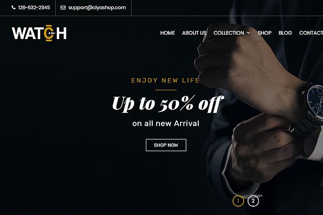 CiyaShop - отзывчивая многоцелевая WordPress тема WooCommerce 1 - kwork.ru