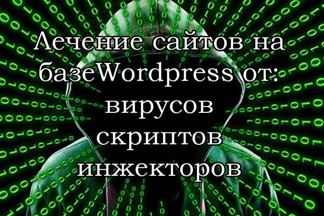 Очистка сайта от вирусов, скриптов, инжекторов на базе WordPress 1 - kwork.ru