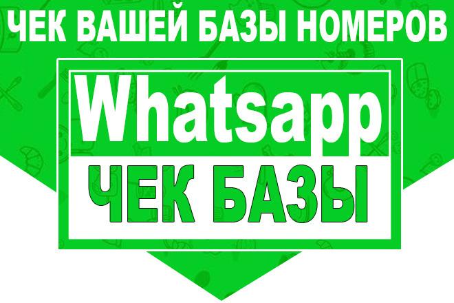 Чек вашей базы номеров на whatsapp для рассылки 1 - kwork.ru