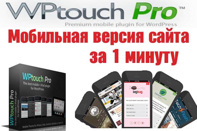 Плагин создания мобильной версии для сайта WPtouch Pro 1 - kwork.ru