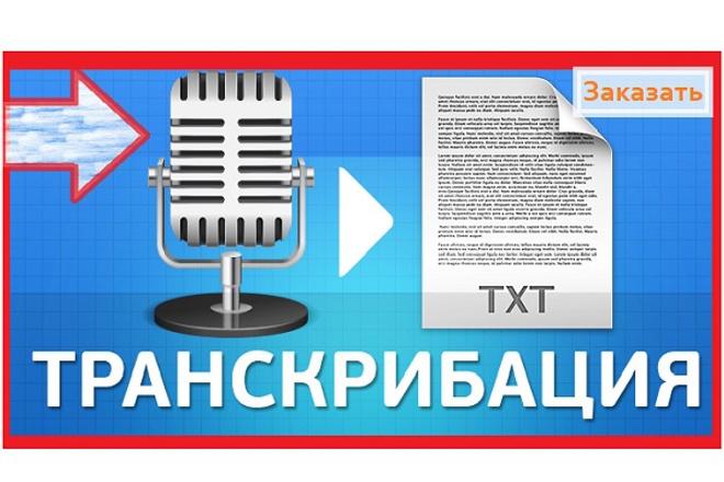 Переведу аудио, видео в текст транскрибация 1 - kwork.ru
