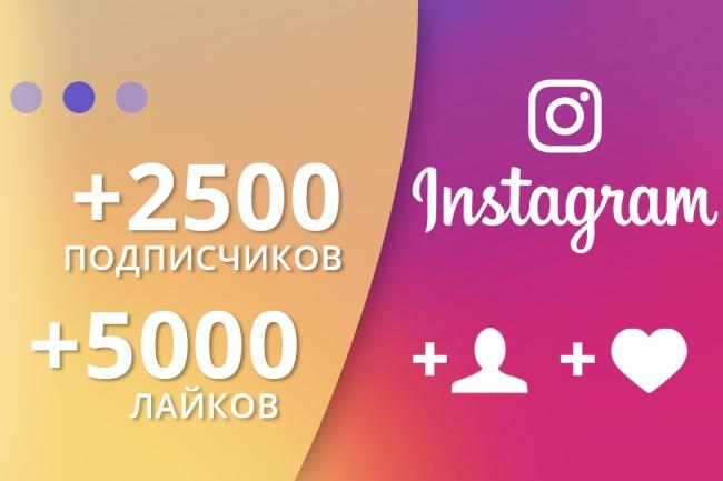 +5000 лайков и +2500 подписчиков в Инстаграм, Instagram 1 - kwork.ru