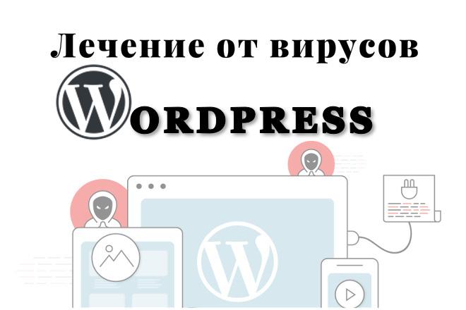 Очистка сайта Wordpress от вирусов 1 - kwork.ru