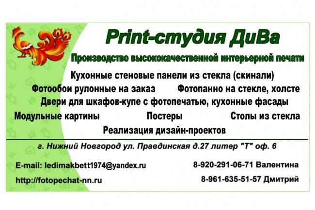 Эксклюзивный дизайн визитки 1 - kwork.ru
