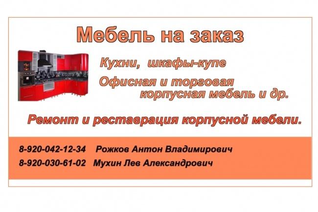 Эксклюзивный дизайн визитки 3 - kwork.ru
