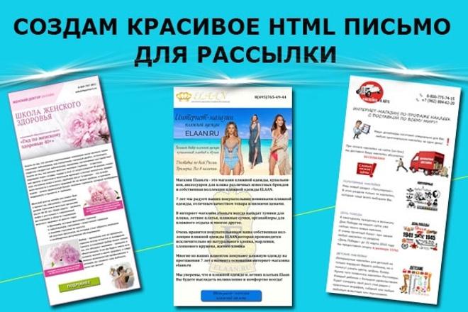 Создам красивое HTML- email письмо для рассылки 60 - kwork.ru