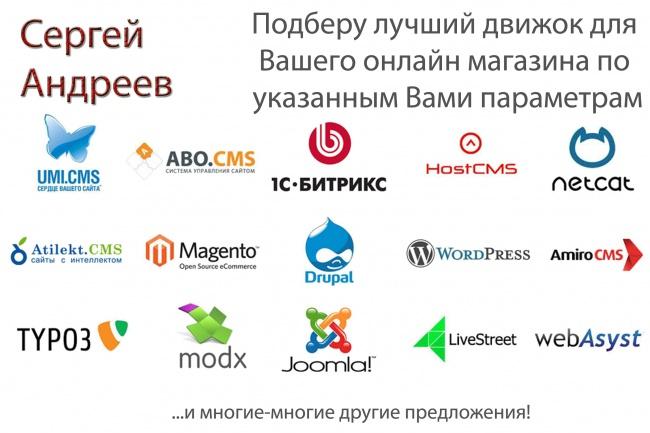 Подберу оптимальную CMS-движок для Вашего магазина 1 - kwork.ru