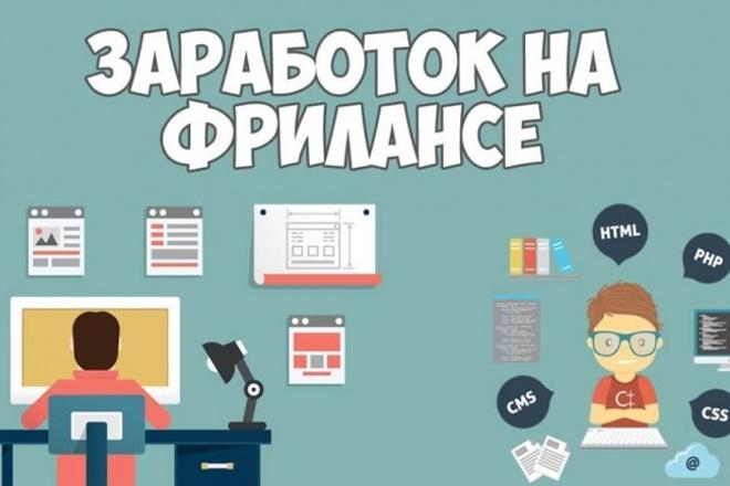 Обучение востребованной интернет профессии . Фрилансер 1 - kwork.ru