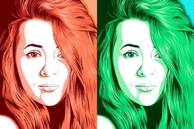 Нарисую поп-арт портрет по фото 6 - kwork.ru