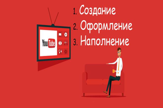 Создание, первичное наполнение, оформление канала на YouTube 1 - kwork.ru