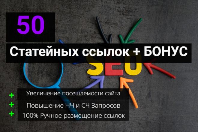 Акция. 50 статейных ссылок. Бонусом Уникальный Текст бесплатно 1 - kwork.ru