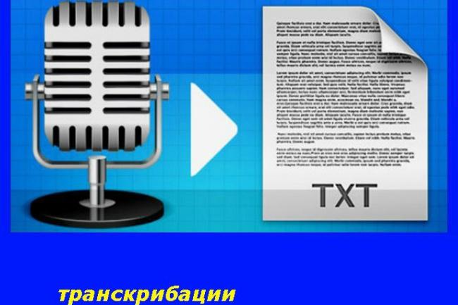 Сделаю транскрибацию видео и аудио в текст 1 - kwork.ru