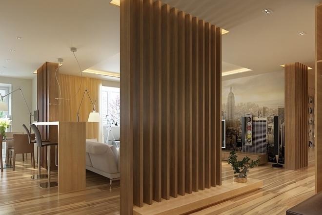 500 идей использования деревянных реек, баффели в интерьере 12 - kwork.ru