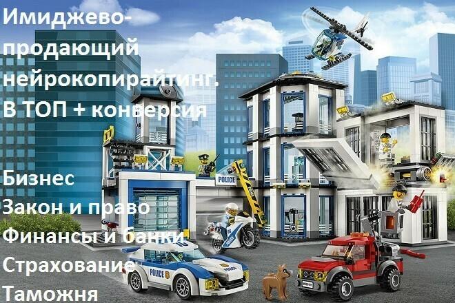 Имиджевый, продающий текст для сайта. Бизнес, финансы, закон, право 1 - kwork.ru