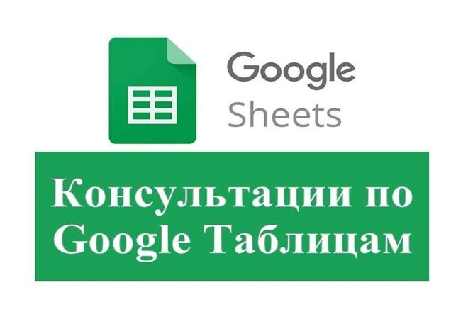 Консультации по работе с Google гугл таблицами 1 - kwork.ru