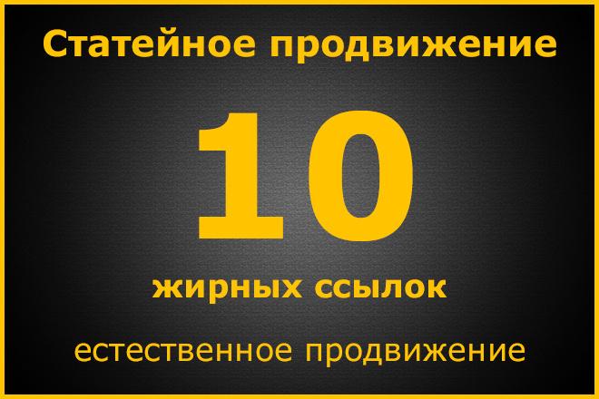 Статейное продвижение. Ручное размещение 1 - kwork.ru