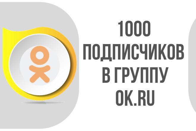 1000 подписчиков в одноклассники 1 - kwork.ru
