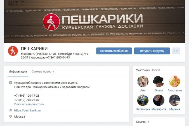 Оформление шапки ВКонтакте. Эксклюзивный конверсионный дизайн 46 - kwork.ru