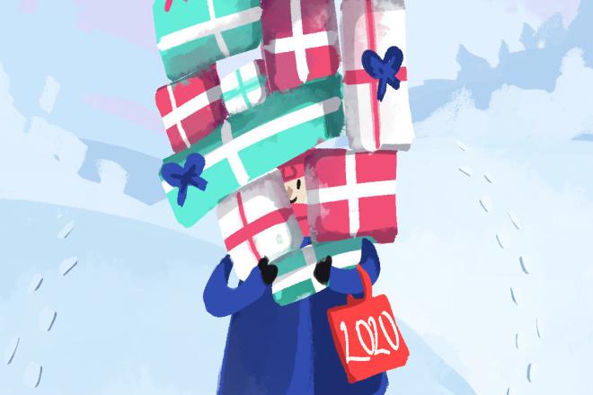 Нарисую праздничную открытку 4 - kwork.ru