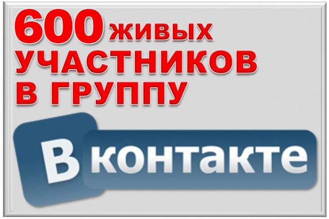 600 подписчиков на паблик Вконтакте, без ботов и программ 1 - kwork.ru