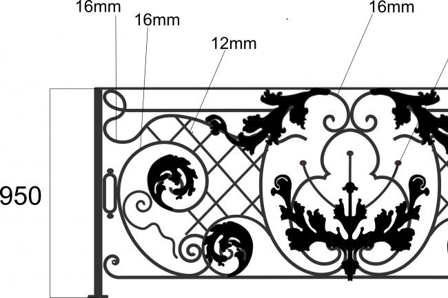 Сделаю 3d модель кованных лестниц, оград, перил, решеток, навесов 20 - kwork.ru