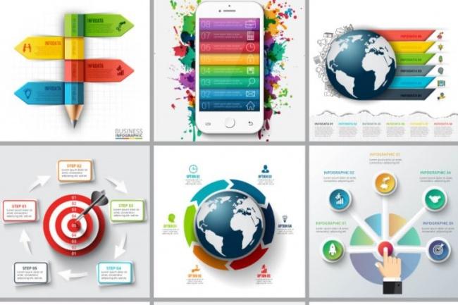 Набор инфографики. 13 тематик, 800 шаблонов, 2 пакета иконок 28 - kwork.ru