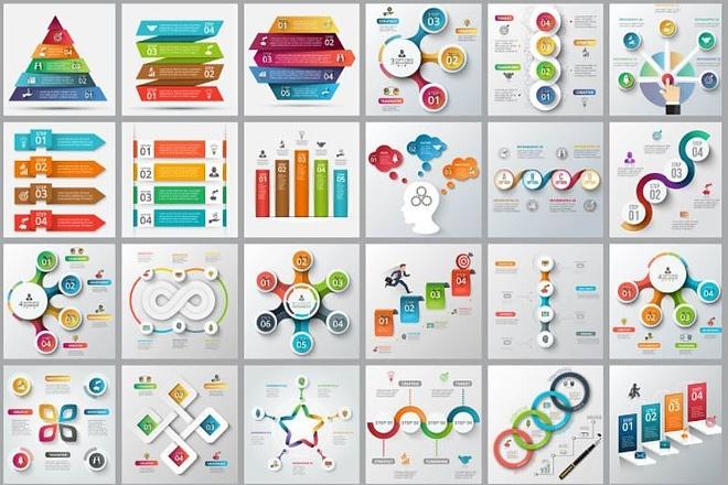 Набор инфографики. 13 тематик, 800 шаблонов, 2 пакета иконок 36 - kwork.ru