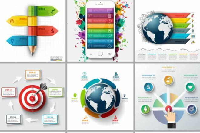 Набор инфографики. 13 тематик, 800 шаблонов, 2 пакета иконок 38 - kwork.ru