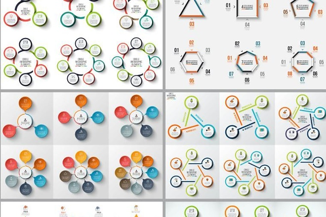 Набор инфографики. 13 тематик, 800 шаблонов, 2 пакета иконок 41 - kwork.ru