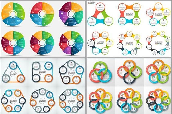 Набор инфографики. 13 тематик, 800 шаблонов, 2 пакета иконок 42 - kwork.ru