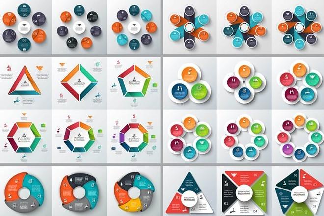 Набор инфографики. 13 тематик, 800 шаблонов, 2 пакета иконок 43 - kwork.ru