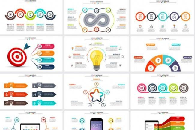 Набор инфографики. 13 тематик, 800 шаблонов, 2 пакета иконок 29 - kwork.ru