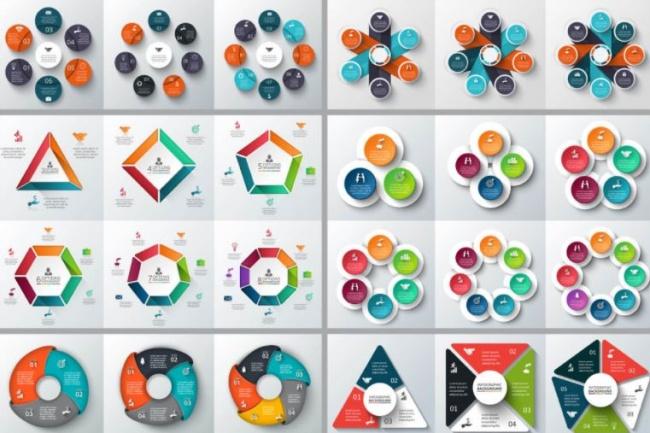 Набор инфографики. 13 тематик, 800 шаблонов, 2 пакета иконок 31 - kwork.ru