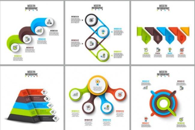 Набор инфографики. 13 тематик, 800 шаблонов, 2 пакета иконок 32 - kwork.ru