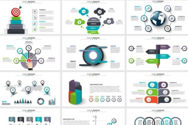 Набор инфографики. 13 тематик, 800 шаблонов, 2 пакета иконок 33 - kwork.ru