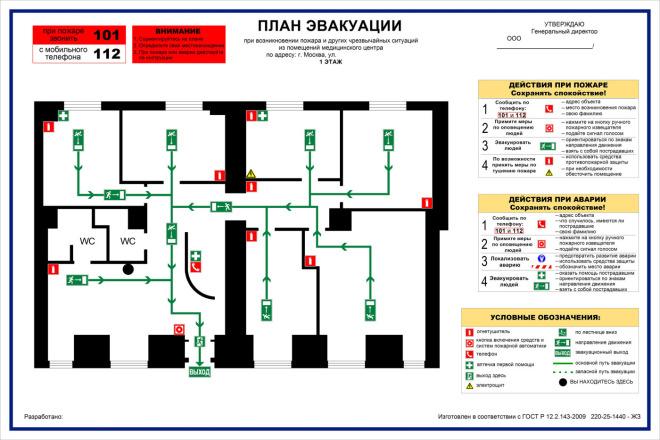 Разработаю план эвакуации недорого 3 - kwork.ru