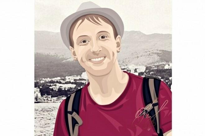 Портрет по фото в Photoshop 1 - kwork.ru