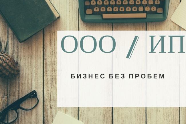 Полный пакет документов для регистрации ИП, ООО 1 - kwork.ru