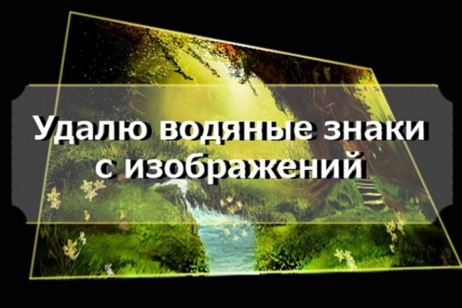 Быстрое удаление водяных знаков, мусора ненужных объектов с ваших фото 33 - kwork.ru