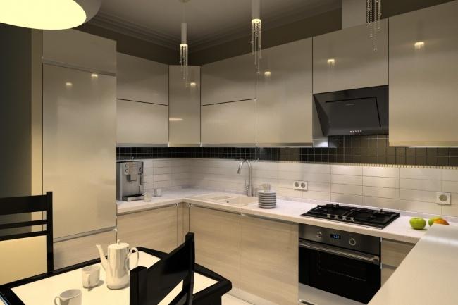 Дизайн и визуализация кухни 10 - kwork.ru