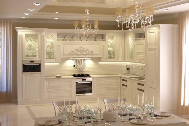 Дизайн и визуализация кухни 12 - kwork.ru